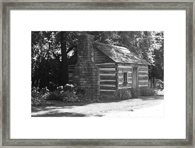 Log Cabin Framed Print by Peggy Leyva Conley
