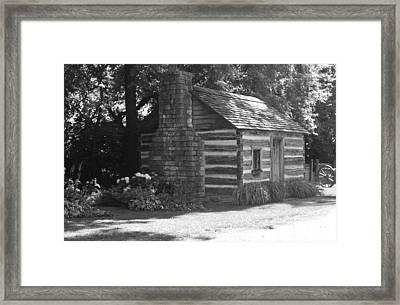 Log Cabin Framed Print