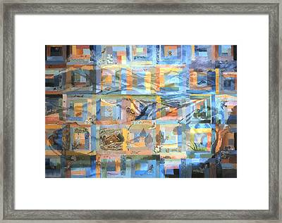 Framed Print featuring the painting Log Cabin Quilt by Dawn Senior-Trask