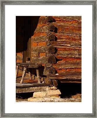 Log Cabin Framed Print by Robert Frederick