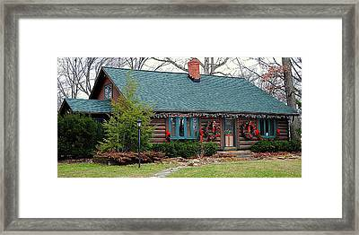 Log Cabin Framed Print by Frozen in Time Fine Art Photography