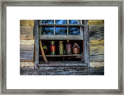 Log Cabin Window Framed Print