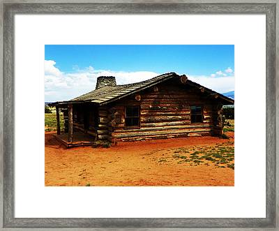 Log Cabin Yr 1800 Framed Print by Joseph Frank Baraba