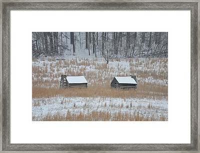 Log Cabins In Valley Forge Framed Print by Bill Cannon