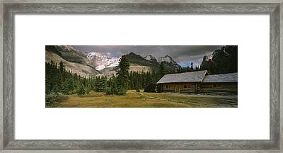Log Cabins On A Mountainside, Yoho Framed Print by Panoramic Images