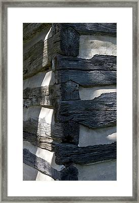 Log Corner Framed Print
