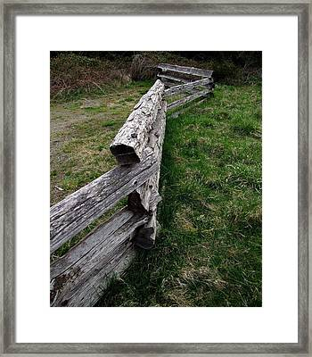 Log Fence Framed Print