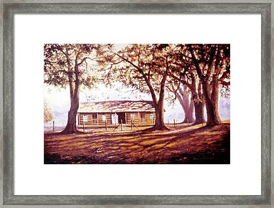 Log House On 421 Framed Print