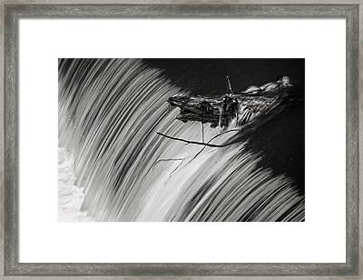 Log In The Falls Framed Print