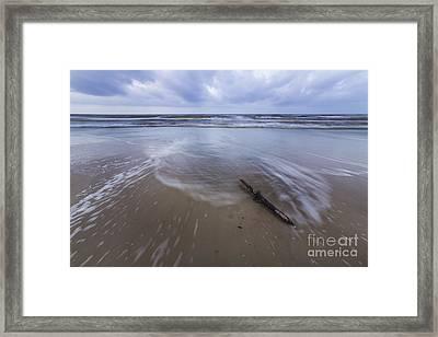 Log On Beach In Cape San Blas Framed Print by Twenty Two North Photography
