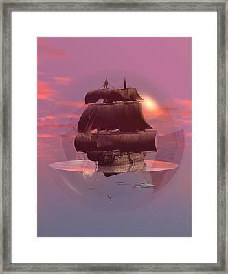 Log Wind Sse 5mph Seas Calm Framed Print by Claude McCoy