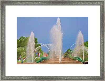 Logan Circle Fountain 2 Framed Print by Bill Cannon
