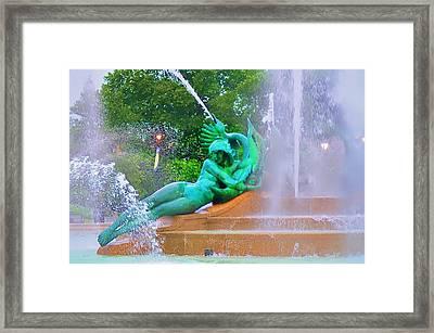 Logan Circle Fountain 6 Framed Print by Bill Cannon