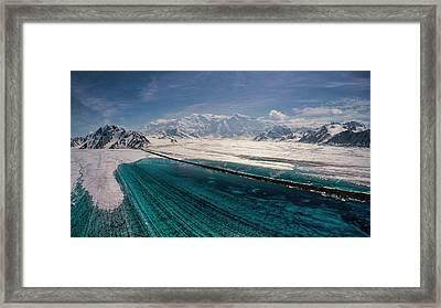 Logan Glacier Meltwater Framed Print