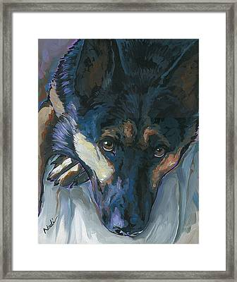 Framed Print featuring the painting Logan by Nadi Spencer