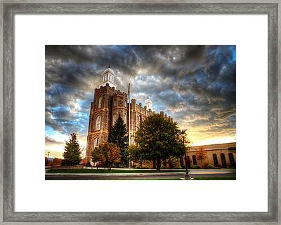 Logan Temple Cloud Backdrop Framed Print
