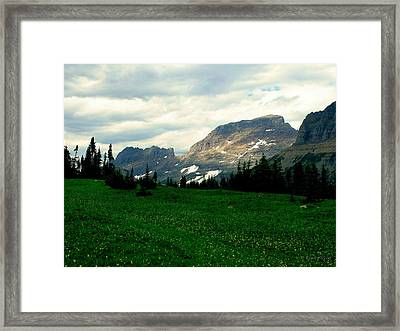Logan's Pass Framed Print