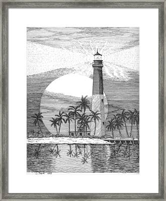 Loggerhead Key Lighthouse Framed Print