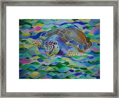 Loggerhead Turtle Framed Print