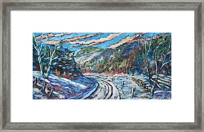 Loggers Road  Framed Print by Richard T Pranke