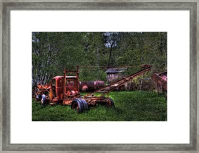 Logging Vehicle Framed Print by David Patterson