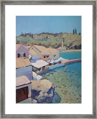 Loggos Pier View Framed Print by Nop Briex