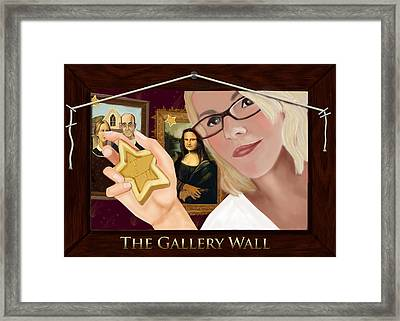 Logo For The Gallery Wall  Framed Print