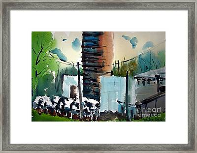 Loing Feeding Frenzy Matted Glassed Framed Framed Print