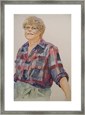 Lois Framed Print by Wendy Hill