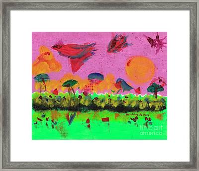 L'oiseau Couleur Du Temps Framed Print