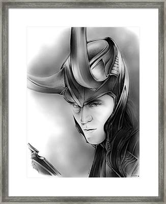 Loki Framed Print by Greg Joens