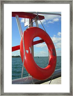 Lokking Through Lake Ontario Framed Print by Heather Weikel