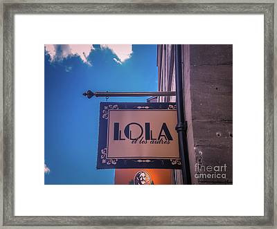 Lola Et Les Autres Framed Print by Claudia M Photography