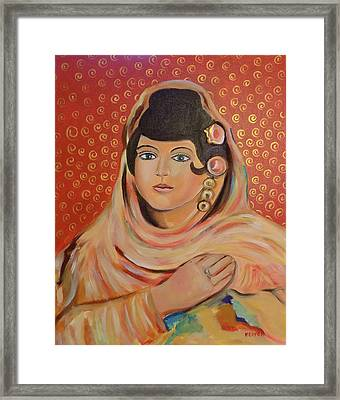 Framed Print featuring the painting Lola by John Keaton