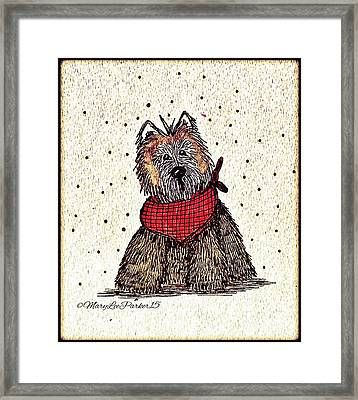Lola The Dog Framed Print by MaryLee Parker