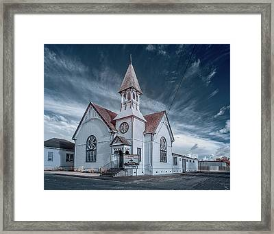 Framed Print featuring the photograph Loleta Church by Greg Nyquist