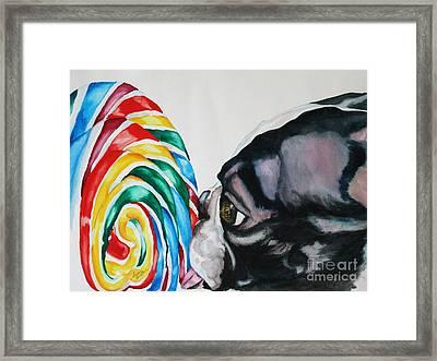 Lolli Pup Framed Print