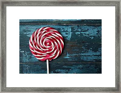 Lollipop Framed Print