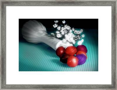 Lollipop Roses Framed Print by Tom Mc Nemar