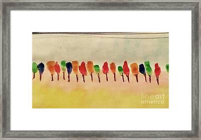 Lollipop Trees Framed Print by Kim Nelson