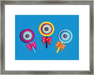 Lollipops Framed Print by Dragana  Gajic
