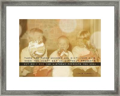 Lollipops Quote Framed Print by JAMART Photography