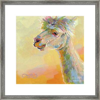 Lolly Llama Framed Print by Kimberly Santini