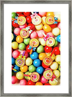Lolly Shop Pops Framed Print