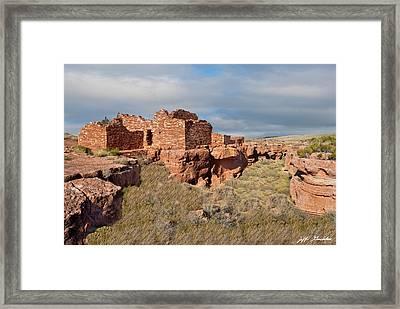 Lomaki Pueblo Ruins Framed Print