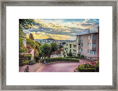 Lombard Street In San Francisco Framed Print