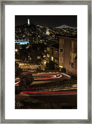 Lombard Street Streaking Color  Framed Print by John McGraw