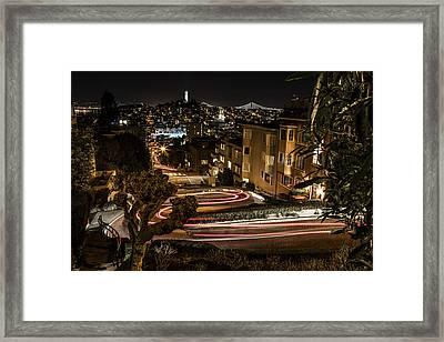 Lombard Street Streaking  Framed Print by John McGraw