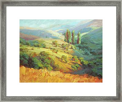 Lombardy Homestead Framed Print