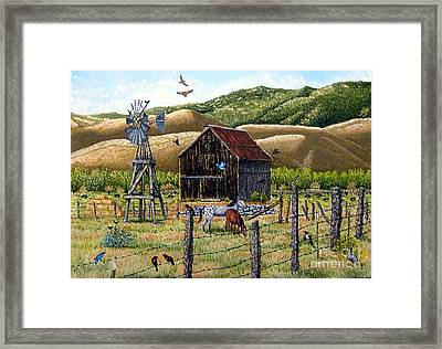 Lompa Valley Ranch Framed Print by Santiago Chavez
